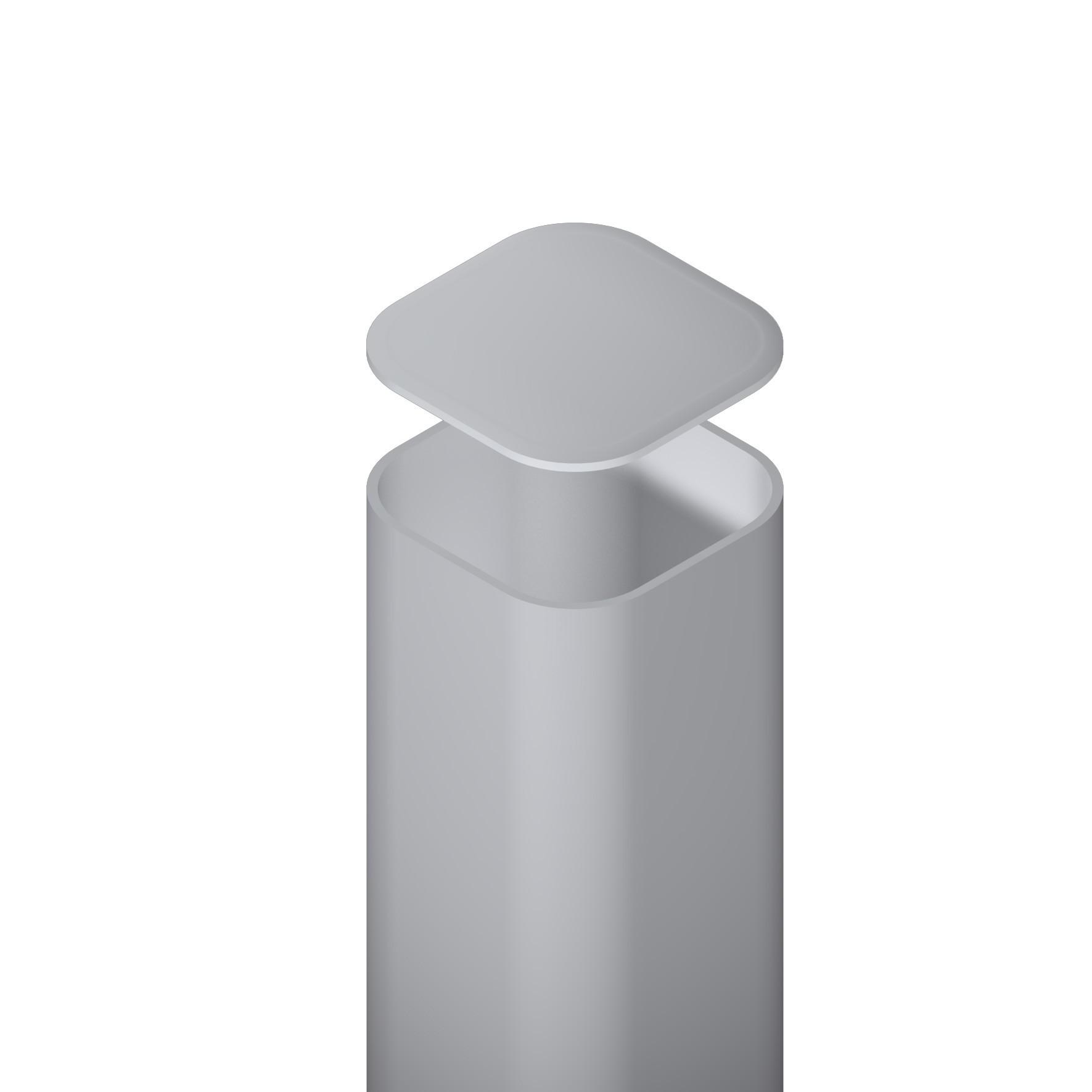metallpfosten f r zaun zum aufschrauben silber 7x7x195cm bei. Black Bedroom Furniture Sets. Home Design Ideas