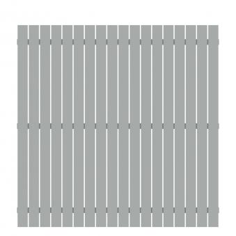 Sichtschutz / Zaun Squadra Alu lichtgrau 180x180cm Bild 1