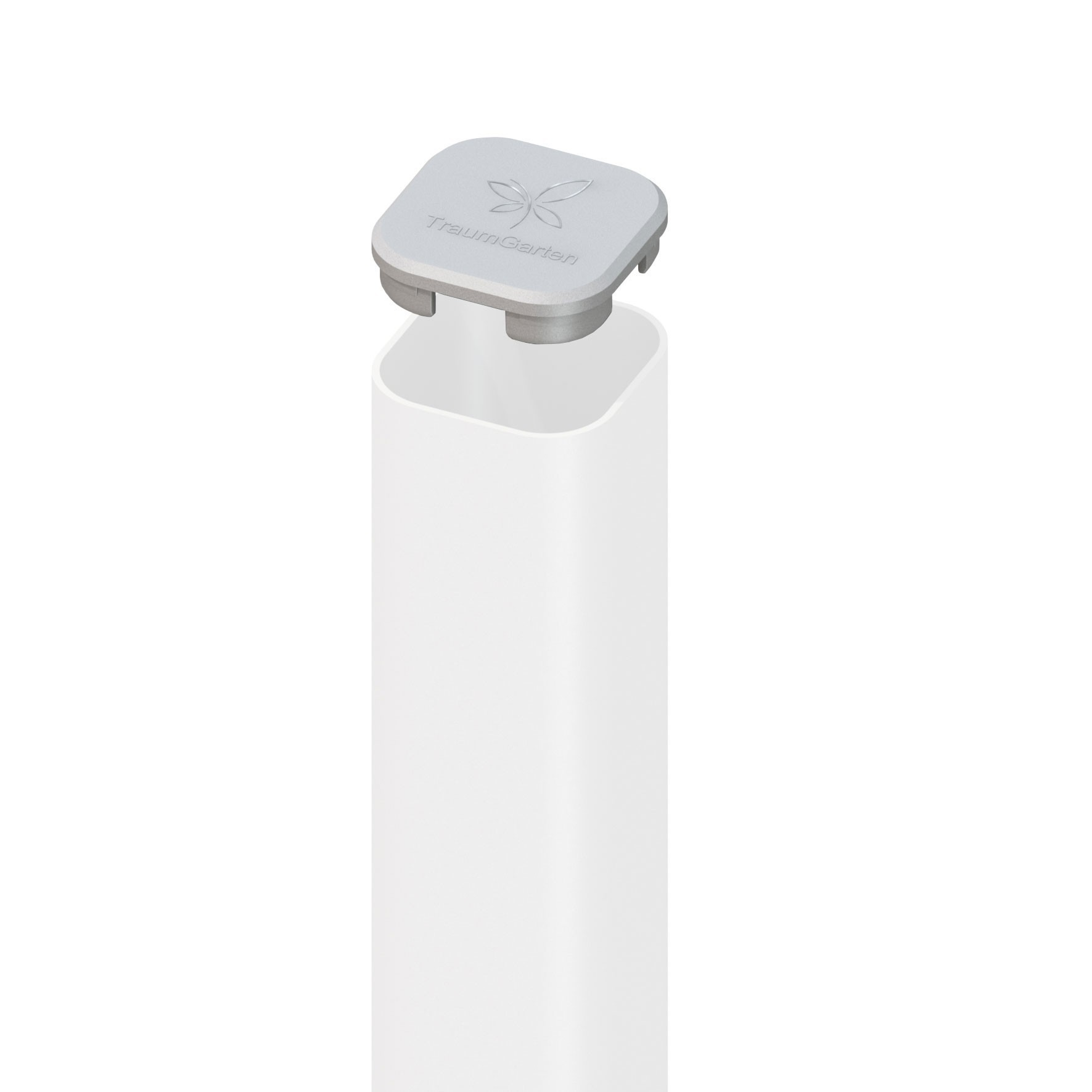 Ersatz Pfostenkappe TraumGarten Universal Kunststoff silber Bild 1