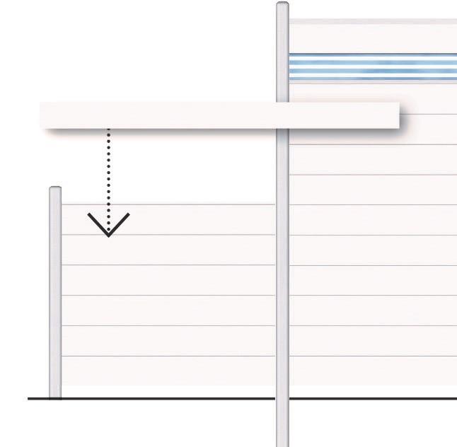 Sichtschutzzaun System Alu Classic Einzelprofil silber 179cm Bild 2
