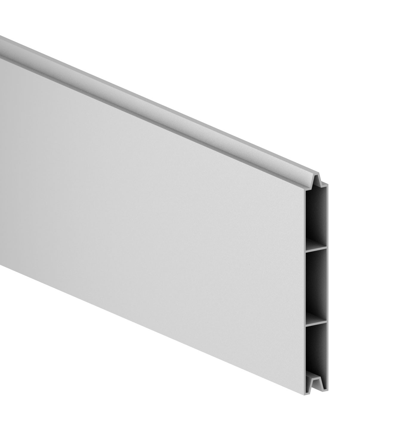 Sichtschutzzaun System Alu Classic Einzelprofil silber 238cm bei