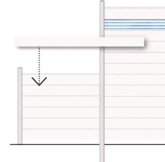 Sichtschutzzaun System Alu Classic Einzelprofil silber 238cm Bild 2