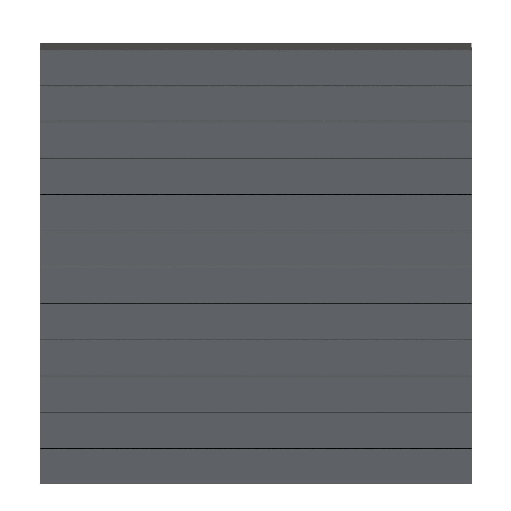 Sichtschutzzaun System Alu Classic Zaunfeld-Set anthrazit 178x181cm Bild 1