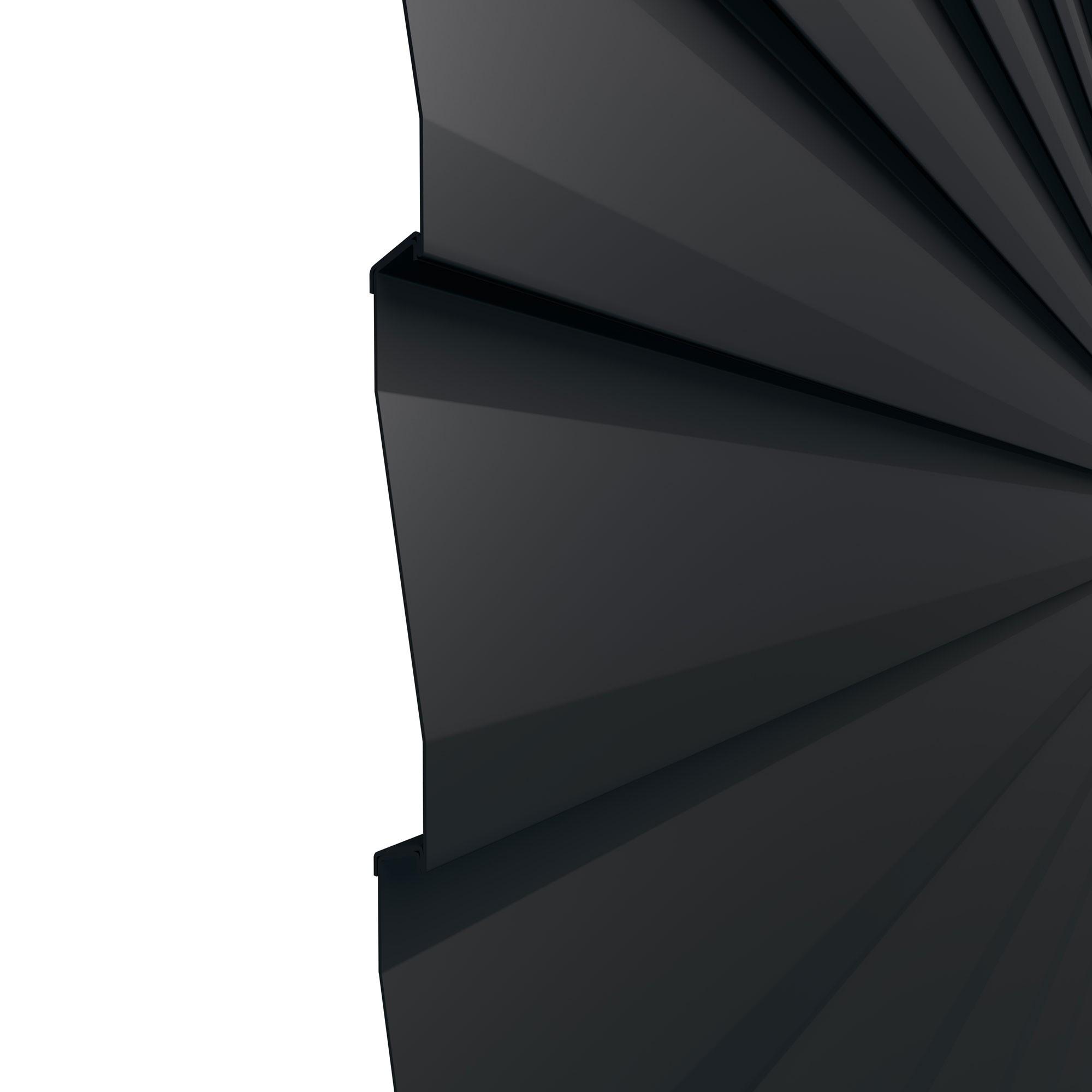 Sichtschutzzaun system metall basic einzelprofil anthrazit for Sichtschutzzaun anthrazit