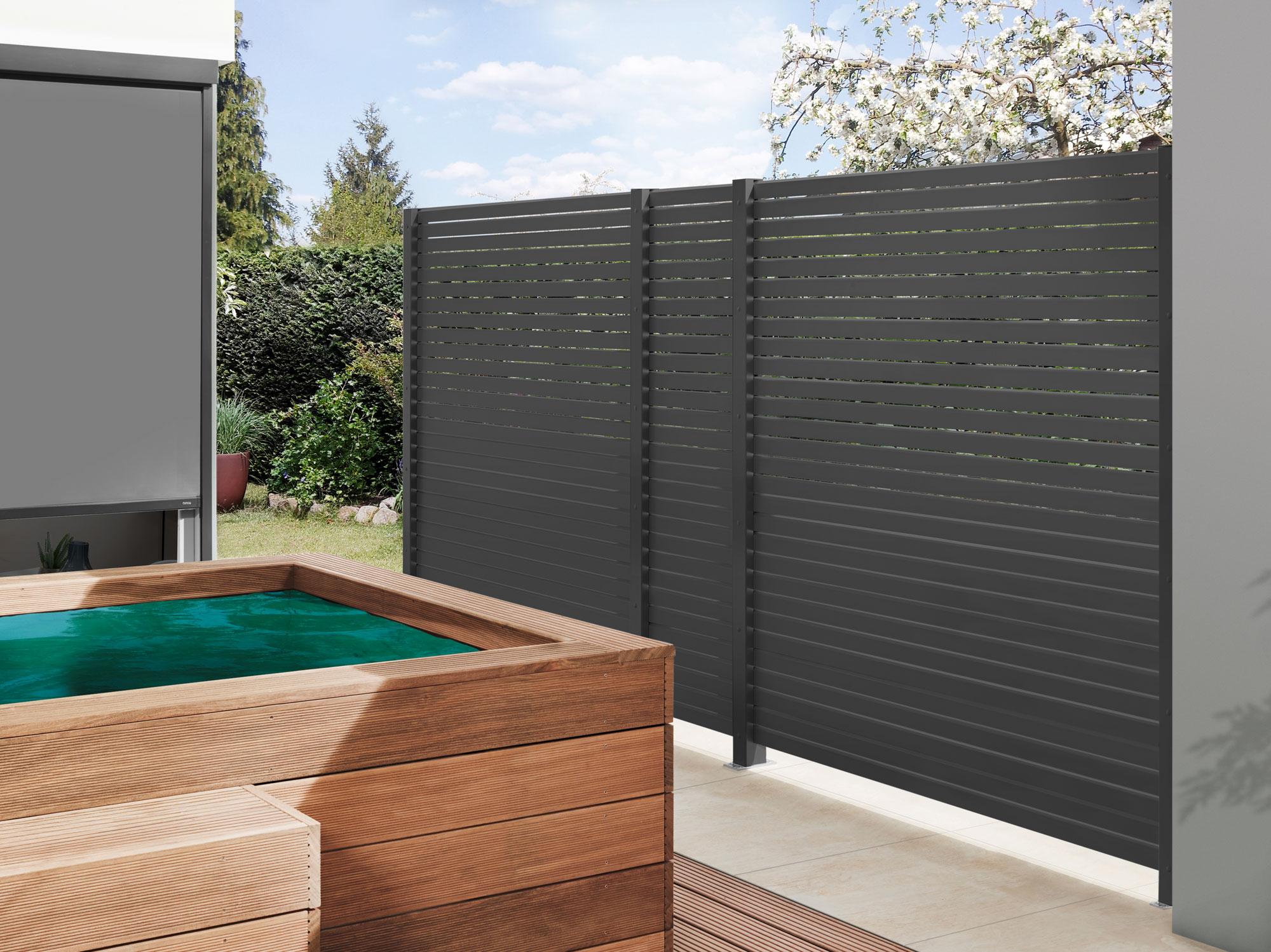 sichtschutzzaun system metall rhombus zaunfeld anthrazit b180xh180cm bei. Black Bedroom Furniture Sets. Home Design Ideas
