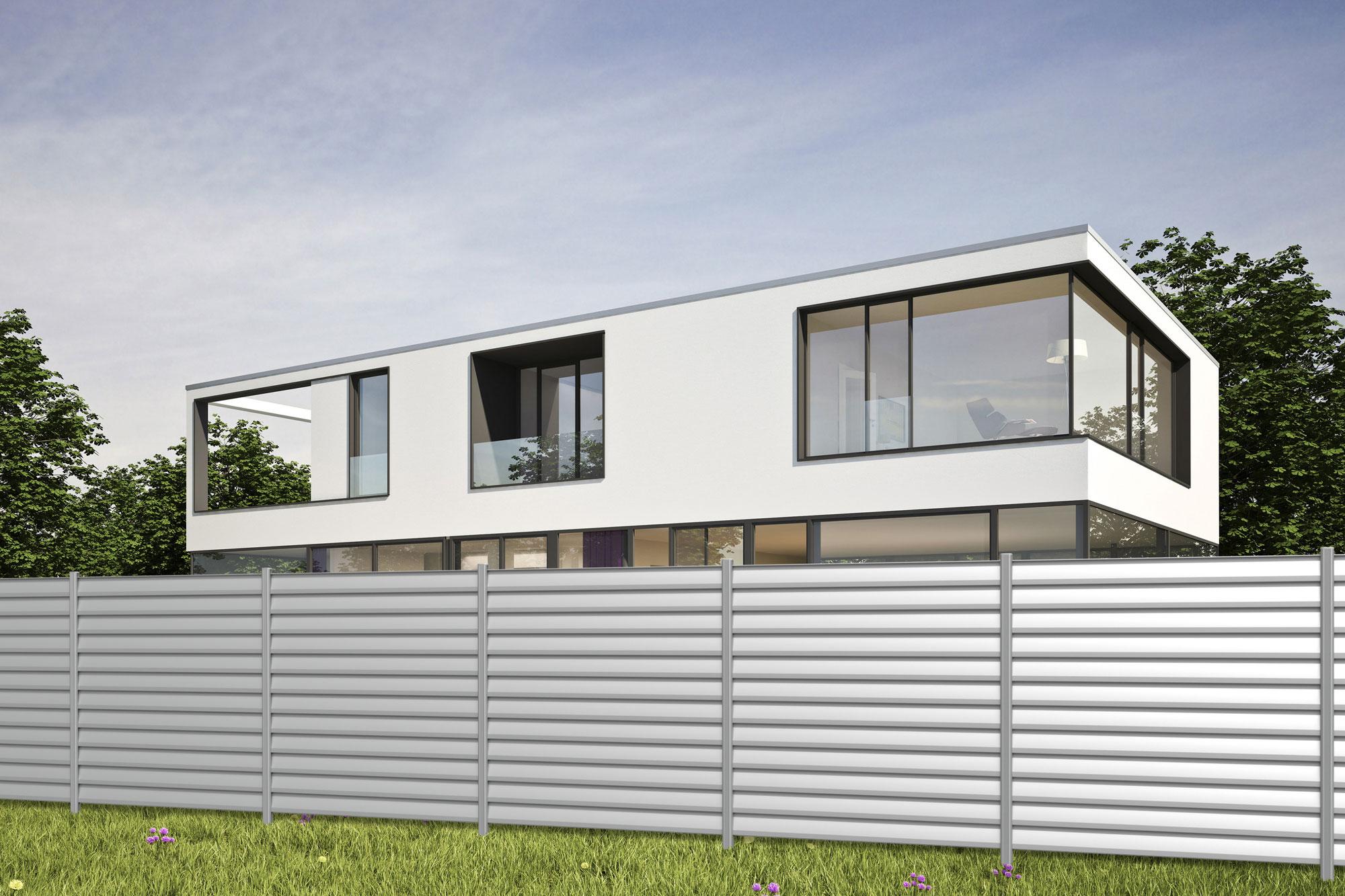 Sichtschutzzaun Traumgarten System Metall Basic silber 179x180cm Bild 3