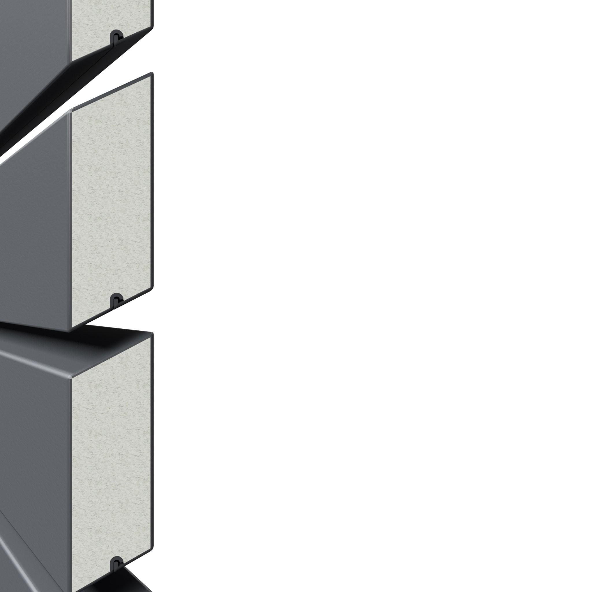 Sichtschutzzaun Traumgarten System Metall Rhombus anthrazit 180x180cm Bild 2