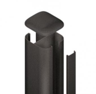 SYSTEM WPC / ALU Pfosten Basic anthrazit Erdverbau 240 cm