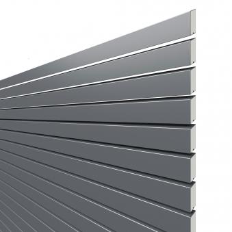 Sichtschutzzaun Traumgarten System Metall Rhombus anthrazit 180x180cm Bild 1