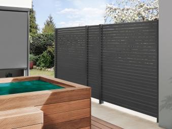 Sichtschutzzaun Traumgarten System Metall Rhombus anthrazit 180x180cm Bild 3