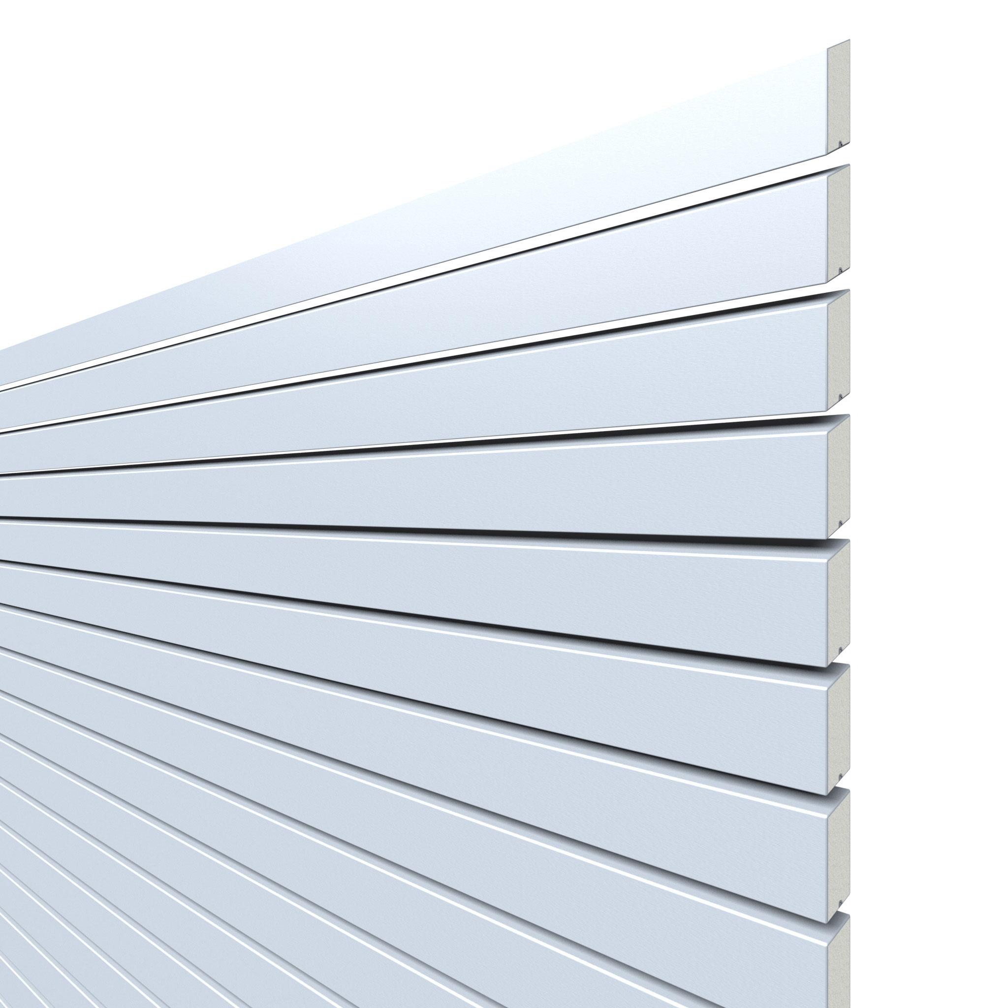 Sichtschutzzaun Traumgarten System Metall Rhombus silber 180x180cm Bild 1