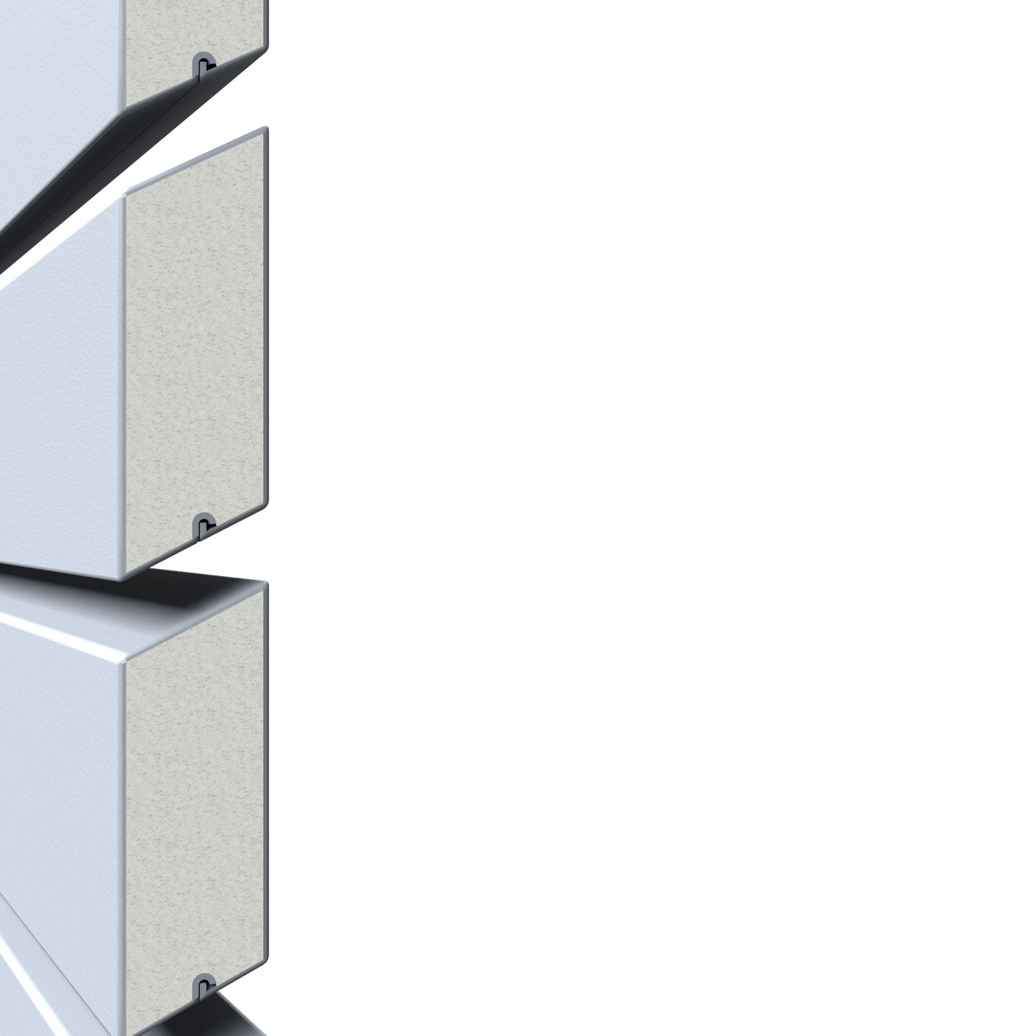 Sichtschutzzaun Traumgarten System Metall Rhombus silber 180x180cm Bild 2