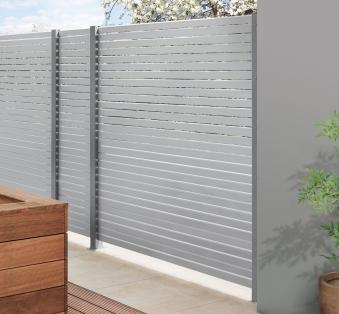 Sichtschutzzaun Traumgarten System Metall Rhombus silber 180x180cm Bild 3