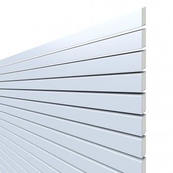 Sichtschutzzaun Traumgarten System Metall Rhombus silber 60x180cm Bild 1
