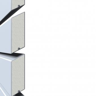 Sichtschutzzaun Traumgarten System Metall Rhombus silber 60x180cm Bild 2