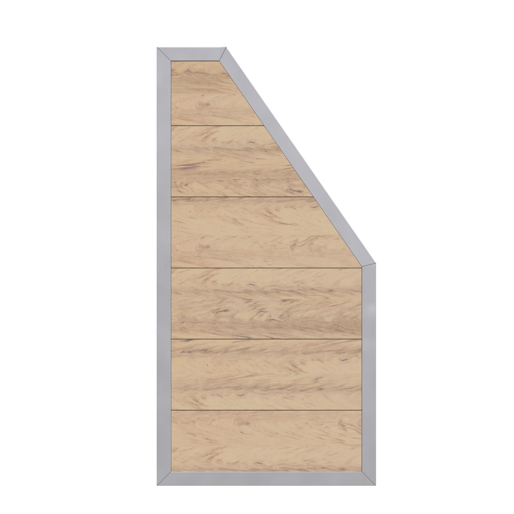sichtschutzzaun design wpc alu anschlussteil sand 90x180 90cm bei. Black Bedroom Furniture Sets. Home Design Ideas