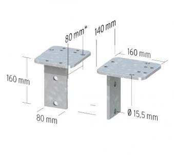 Montageadapter L-Form für Aufschraubanker Bild 3