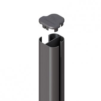 system wpc alu eck pfosten basic anthrazit erdverbau 150 cm bei. Black Bedroom Furniture Sets. Home Design Ideas