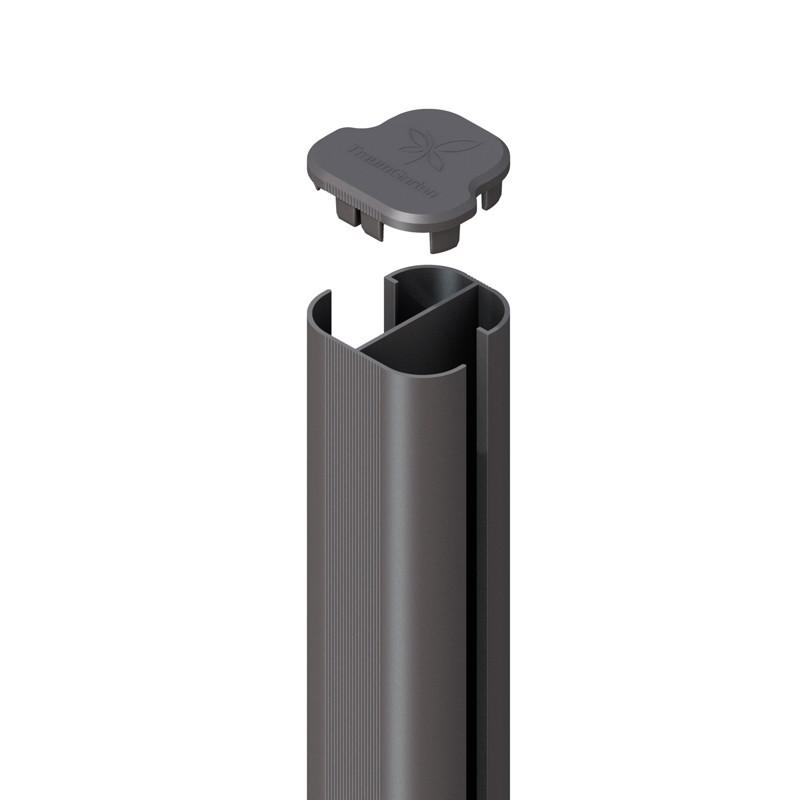 SYSTEM WPC / ALU Eck-Pfosten Basic anthrazit Erdverbau 240 cm Bild 1