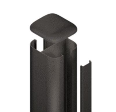 SYSTEM WPC / ALU Pfosten Basic anthrazit Erdverbau 240 cm Bild 1