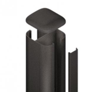 SYSTEM WPC / ALU Pfosten Basic anthrazit zum Aufschrauben 192,5 cm Bild 1