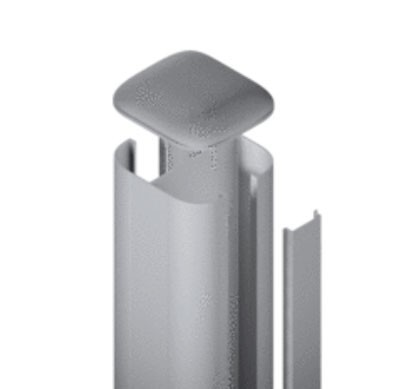 SYSTEM WPC / ALU Pfosten Basic silber Erdverbau 240 cm Bild 1