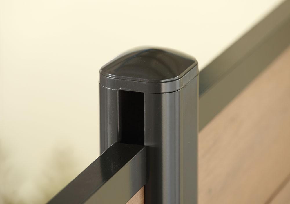 system wpc alu pfosten silber erdverbau 193 cm bei. Black Bedroom Furniture Sets. Home Design Ideas
