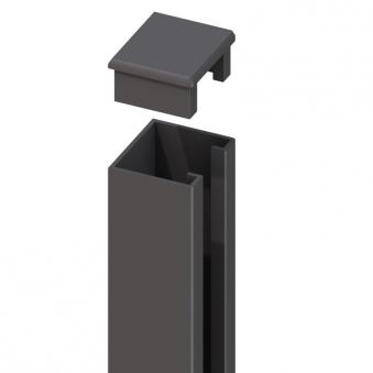 system wpc alu pfosten basic silber zum aufschrauben. Black Bedroom Furniture Sets. Home Design Ideas