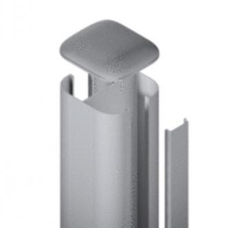 SYSTEM WPC / ALU Pfosten Basic silber zum Aufschrauben 192,5 cm Bild 1