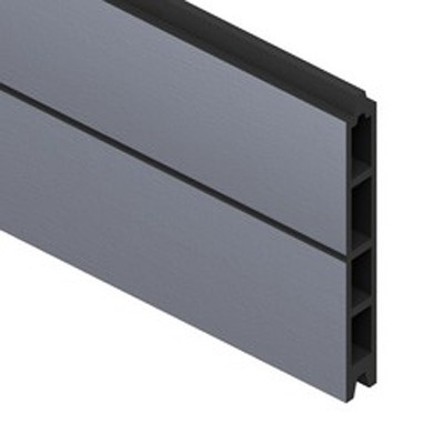 sichtschutzzaun system wpc einzelprofil anthrazit 178cm bei. Black Bedroom Furniture Sets. Home Design Ideas