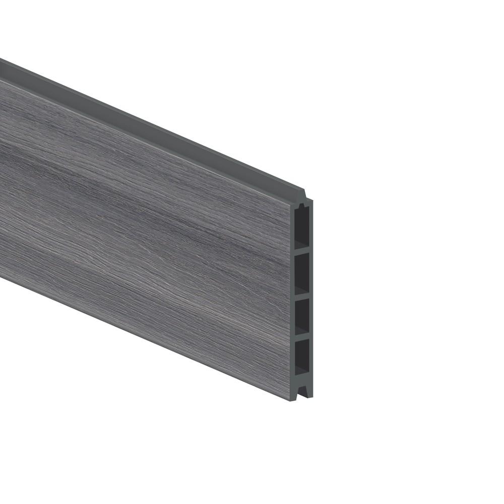 sichtschutzzaun system wpc einzelprofil platinum grau 178cm bei. Black Bedroom Furniture Sets. Home Design Ideas