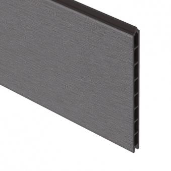 sichtschutzzaun system wpc einzelprofil xl anthrazit 178cm bei. Black Bedroom Furniture Sets. Home Design Ideas