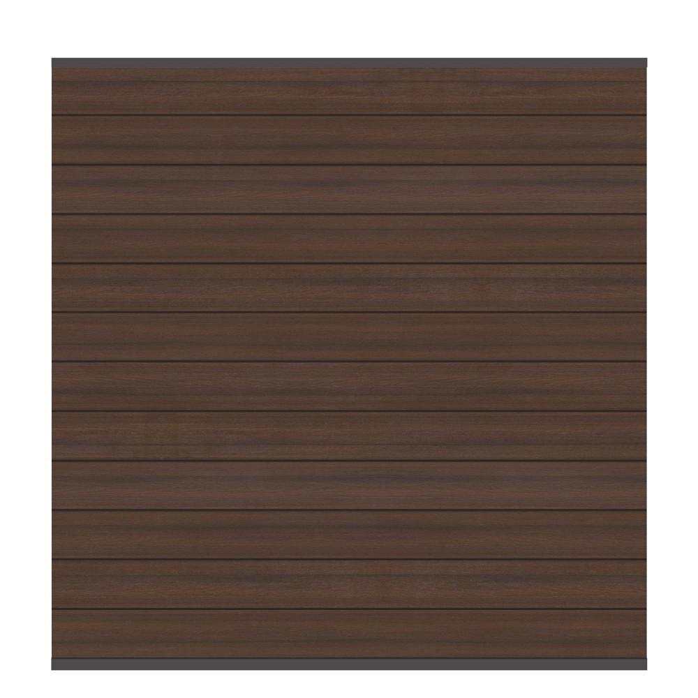 sichtschutzzaun system wpc zaunfeld set platinum braun anthr 178x183cm bei. Black Bedroom Furniture Sets. Home Design Ideas