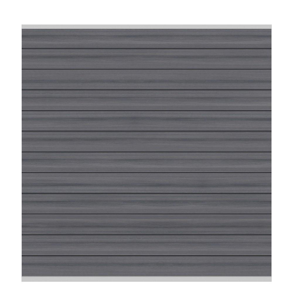 sichtschutzzaun system wpc zaunfeld set platinum grau silber 178x183cm bei. Black Bedroom Furniture Sets. Home Design Ideas