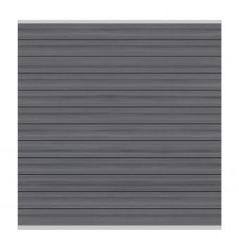 Sichtschutzzaun System WPC Zaunfeld-Set Platinum grau/silber 178x183cm Bild 1