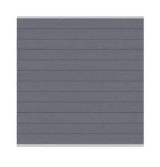 Sichtschutzzaun System WPC Zaunfeld-Set anthrazit / silber 178x183cm Bild 1