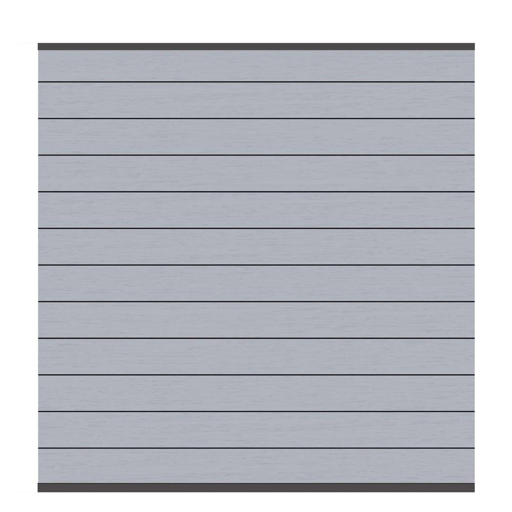 Sichtschutzzaun System WPC Zaunfeld-Set grau / anthrazit 178x183cm Bild 1