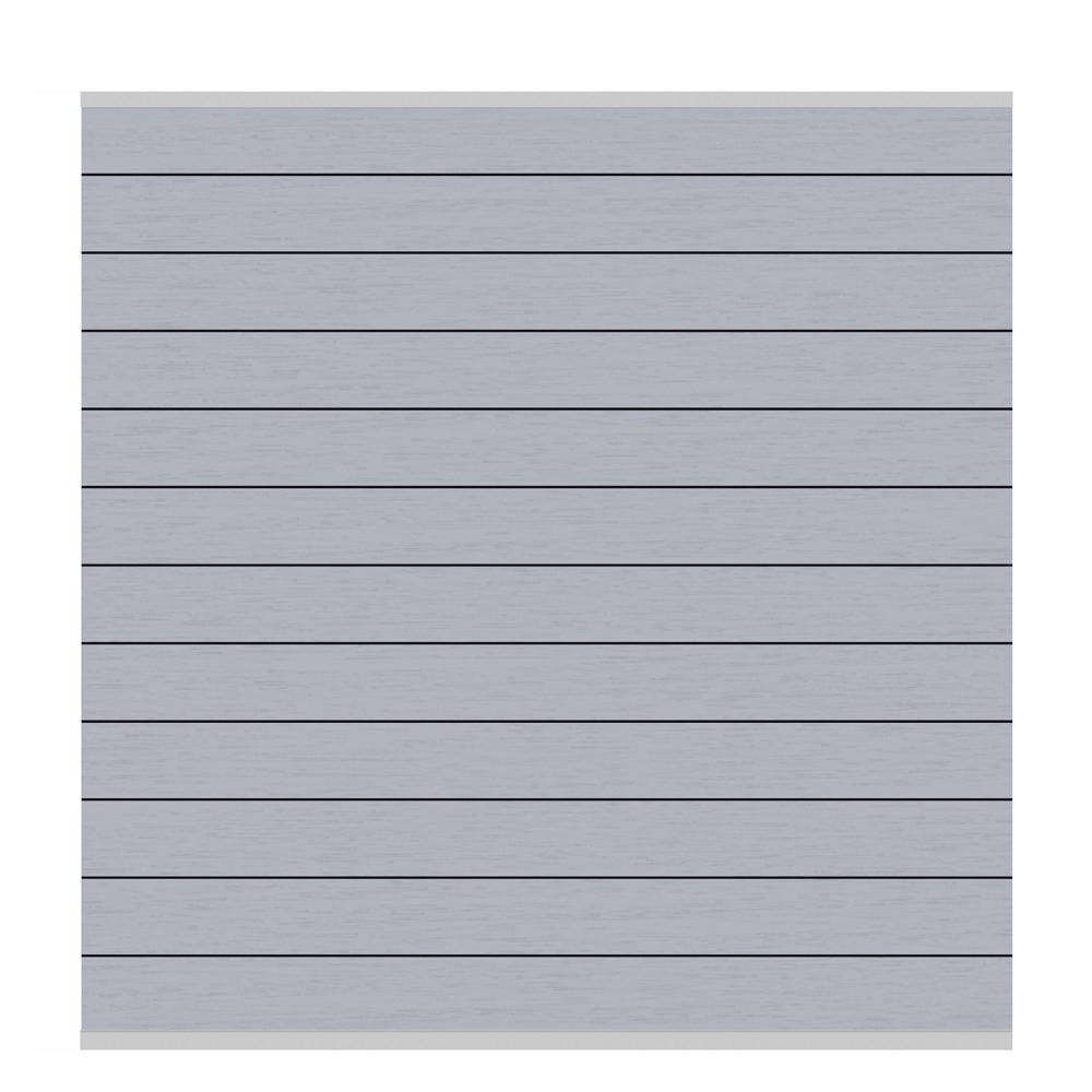 Sichtschutzzaun System WPC Zaunfeld-Set grau / silber 178x183cm Bild 1