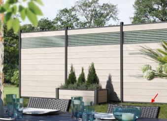 Sichtschutzzaun System WPC Zaunfeld-Set sand/anthrazit 178x183cm Bild 2