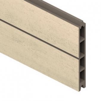 Sichtschutzzaun System WPC Einzelprofil Classic sand 178cm