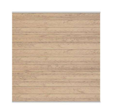 Sichtschutzzaun System WPC Zaunfeld-Set sand / silber 178x183cm Bild 1