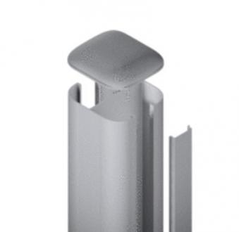 SYSTEM WPC / ALU Pfosten Basic silber Erdverbau 240 cm