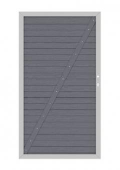 System WPC Tor Classic DIN links 98x179cm anthrazit / silber Bild 1