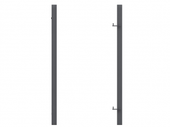 Torpfosten Metall für Tor zum Sichtschutzzaun anthrazit 8x8x255cm