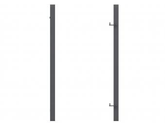 Torpfosten Metall für Tor zum Sichtschutzzaun anthrazit 8x8x255cm Bild 1