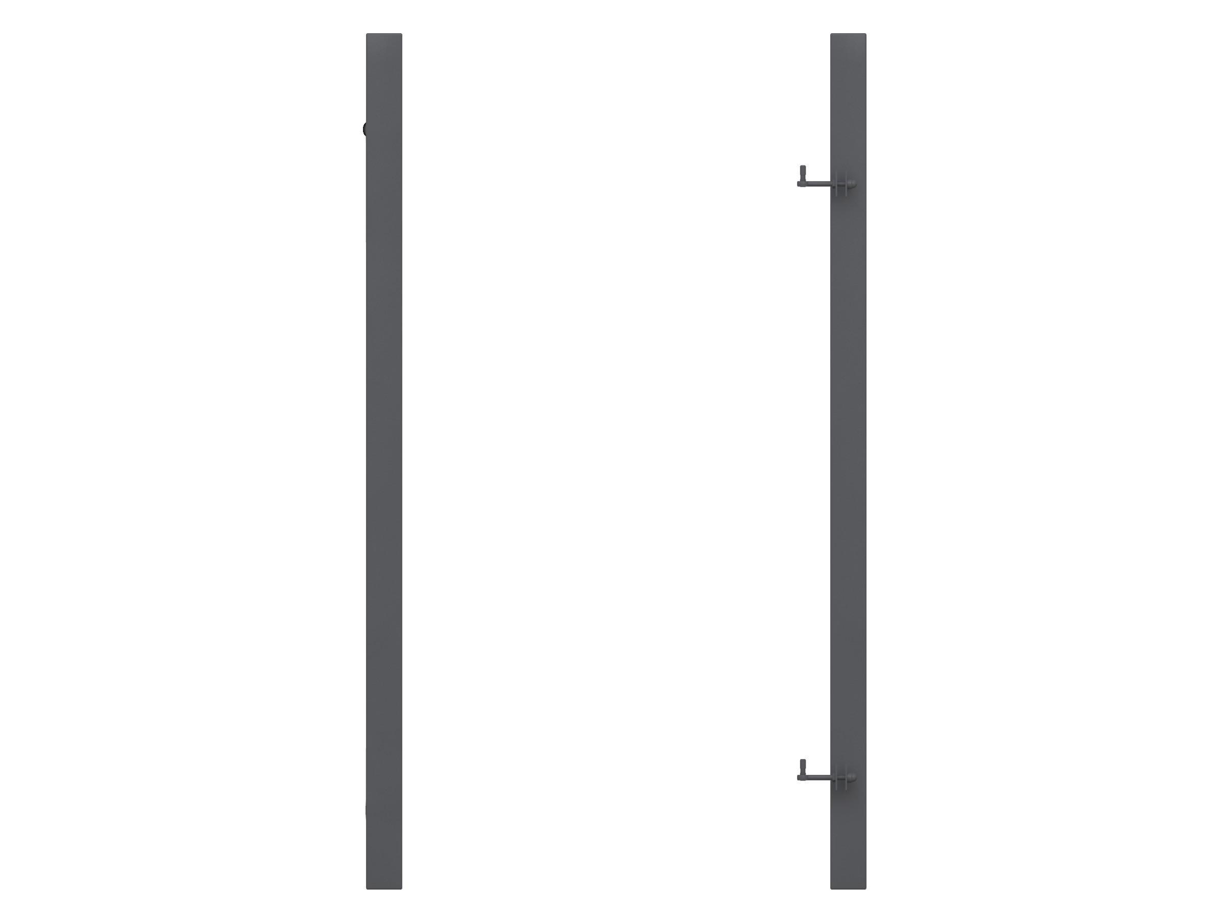 torpfosten metall f r tor zum sichtschutzzaun anthrazit 8x8x255cm bei. Black Bedroom Furniture Sets. Home Design Ideas