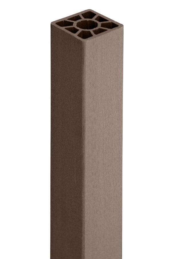 wpc pfosten 9x9cm braun l nge 200cm bei. Black Bedroom Furniture Sets. Home Design Ideas