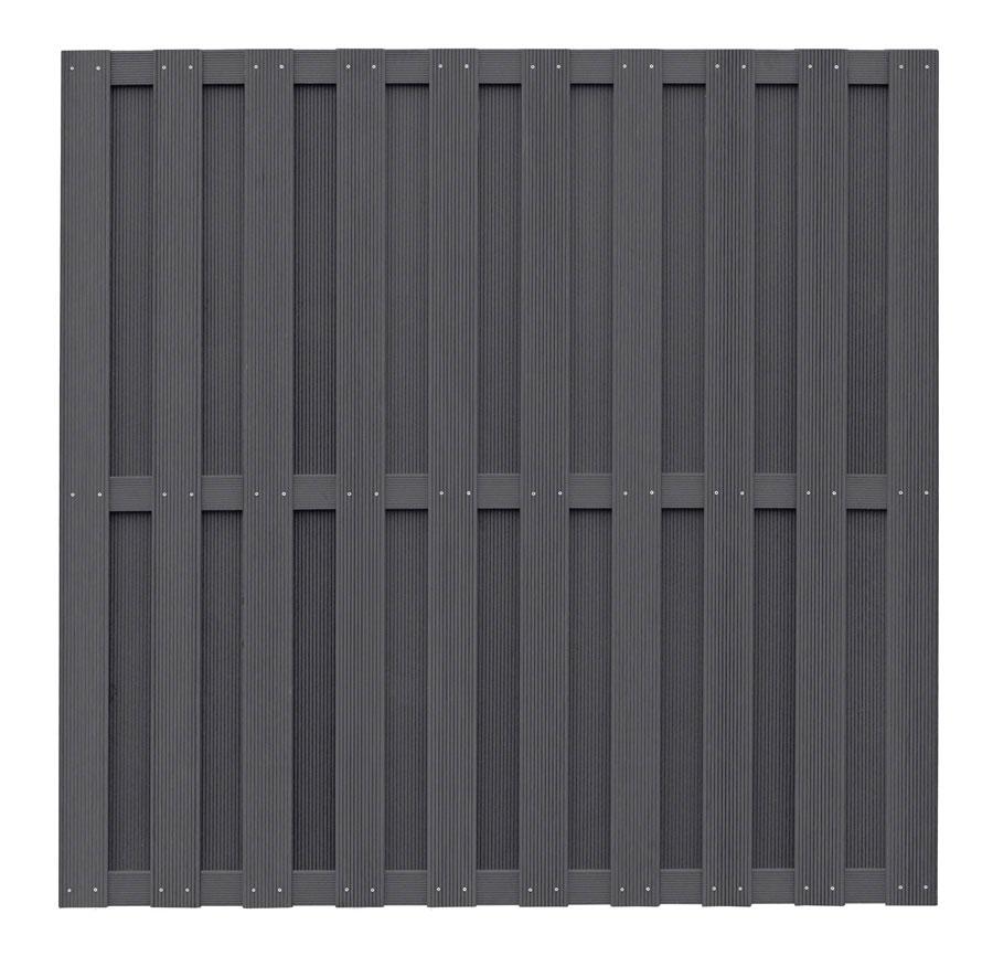 wpc zaun wpc sichtschutz anthrazit 180x180cm bei. Black Bedroom Furniture Sets. Home Design Ideas
