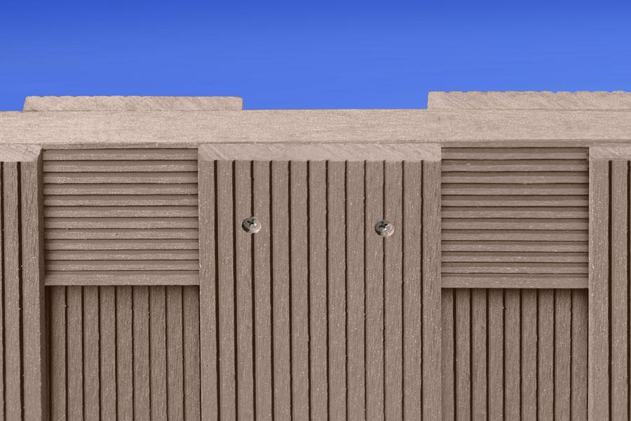 Frisch WPC Zaun / WPC Sichtschutz braun 180x180cm - bei edingershops.de BX81
