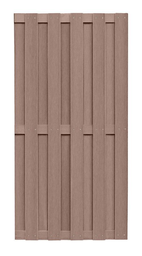 wpc zaun wpc sichtschutz braun 90x180cm bei. Black Bedroom Furniture Sets. Home Design Ideas